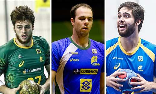 Haniel Langaro, Leonardo Santos e Henrique Teixeira-Handebol -