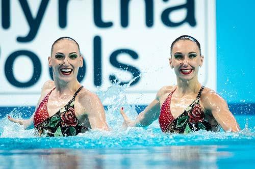 Supremacia russa no nado sincronizado – final rotina livre duetos- - Rússia