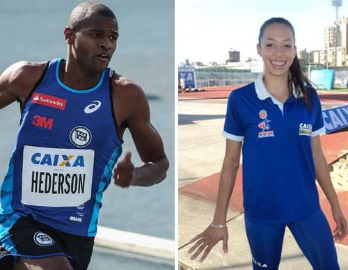 Hederson Estefani e Tabata Vitorino-Atletismo - revezamento 4 x 400m -