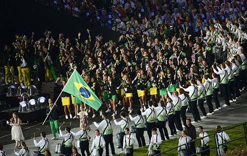 Porta-bandeira brasileiro- -