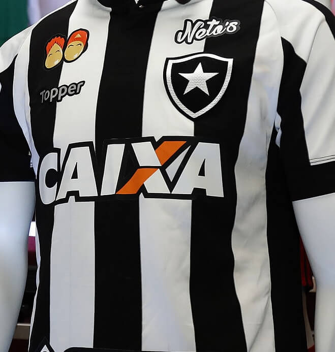 02d060efbf foto da camisa do botafogo no brasileirão em 2018. Botafogo Botafogo.  Patrocínio master