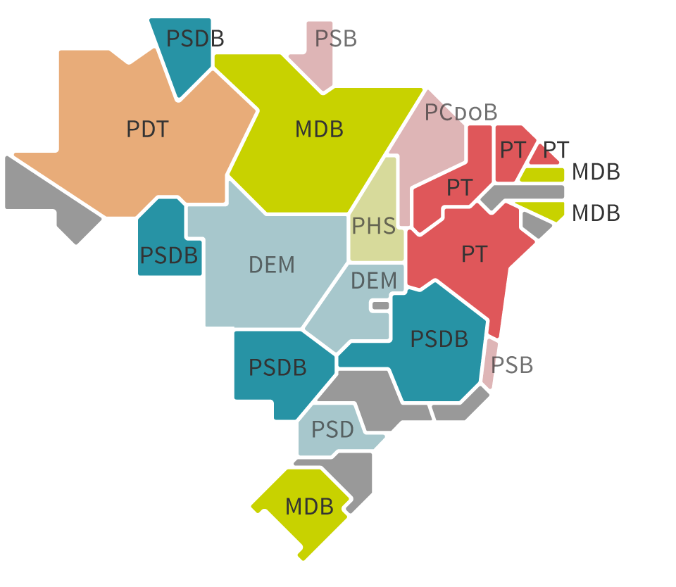 Infográfico: Mapa do Ibope para governador no Brasil segundo as pesquisas de Agosto de 2018 – Eleições 2018 – Gazeta do Povo
