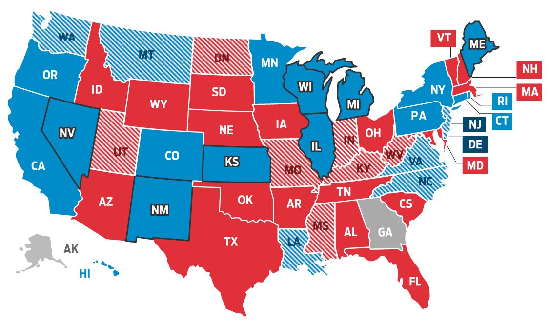 Infográfico: Eleições dos EUA - Governo