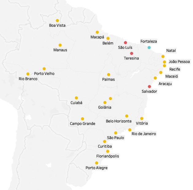 Mapa eleitoral: Resultado para presidente | Eleições 2018 | Quem ganhou por estado: Jair Bolsonaro (23) Fernando Haddad (3) Ciro Gomes (1)