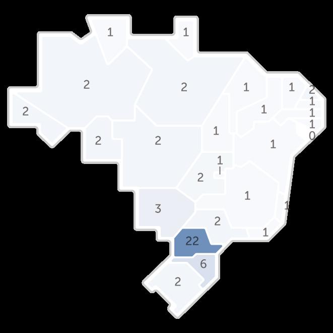Infográfico: Mapa da pesquisa Ibope das intenções de voto do candidato Lula