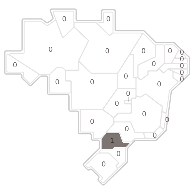 Mapa da pesquisa Ibope em cada estado das intenções de voto do candidato Eymael