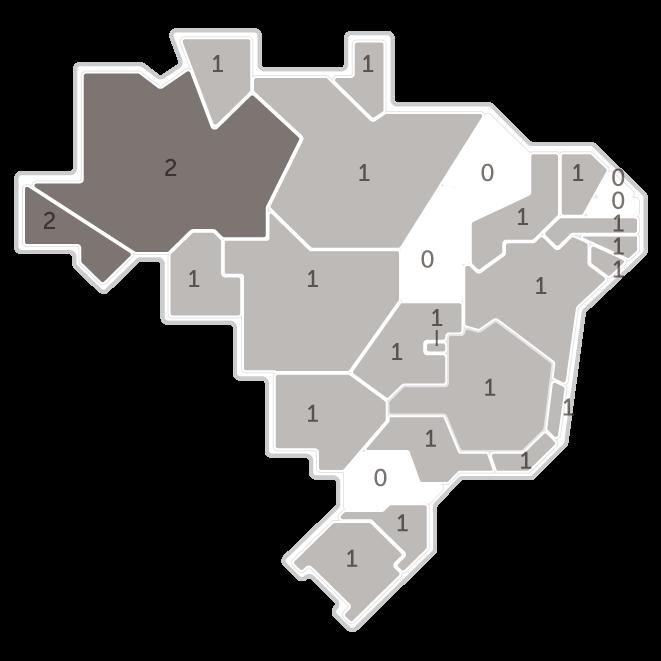 Mapa da pesquisa Ibope em cada estado das intenções de voto do candidato Cabo Daciolo