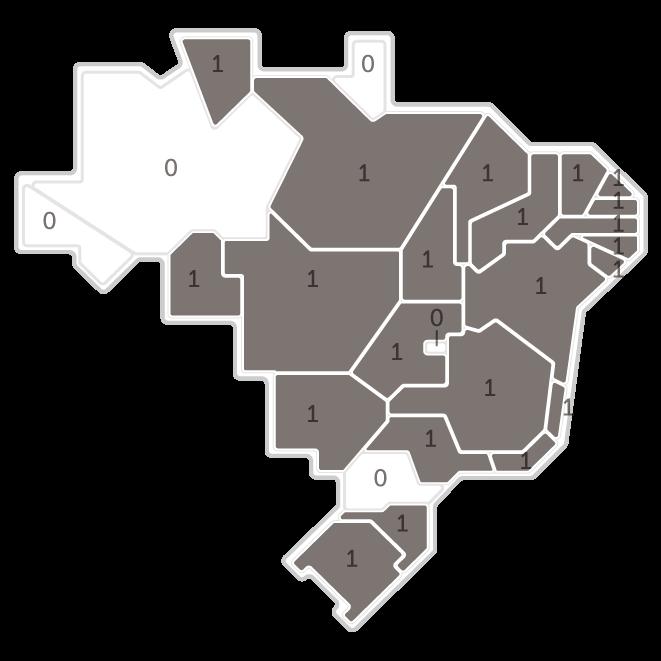 Mapa da pesquisa Ibope em cada estado das intenções de voto do candidato João Goulart Filho