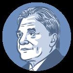 Ilustração do rosto do candidato à presidência Alvaro Dias