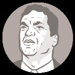Ilustração do rosto do candidato à presidência Cabo Daciolo
