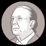 Ilustração do rosto do candidato à presidência Eymael