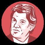 Ilustração do rosto do candidato à presidência Fernando Haddad
