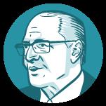 Ilustração do rosto do candidato à presidência Geraldo Alckmin