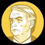 Ilustração do rosto do candidato à presidência Jair Bolsonaro
