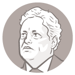 Ilustração do rosto do candidato à presidência João Goulart Filho