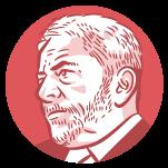 Ilustração do rosto do candidato à presidência Lula