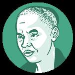 Ilustração do rosto do candidato à presidência Marina Silva