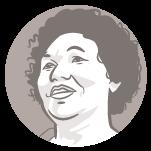 Ilustração do rosto do candidato à presidência Vera