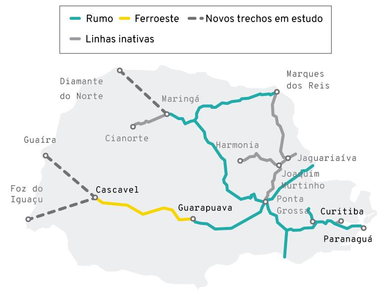 Malha Ferroviária do Paraná