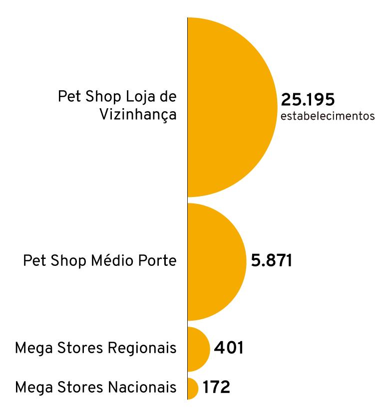 Infográfico: Lojas de varejo especializadas no mercado pet no Brasil