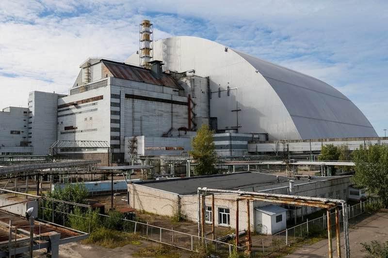 Sarcófago em volta da usina de Chernobil
