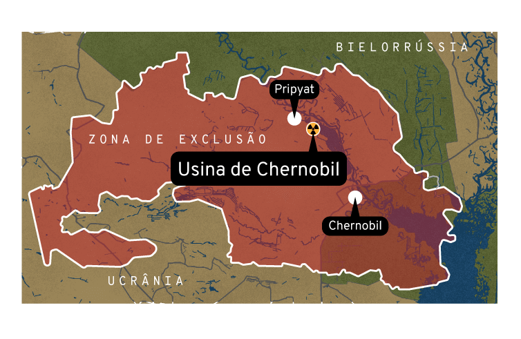 Infográfico: Zona de exclusão de Chernobil
