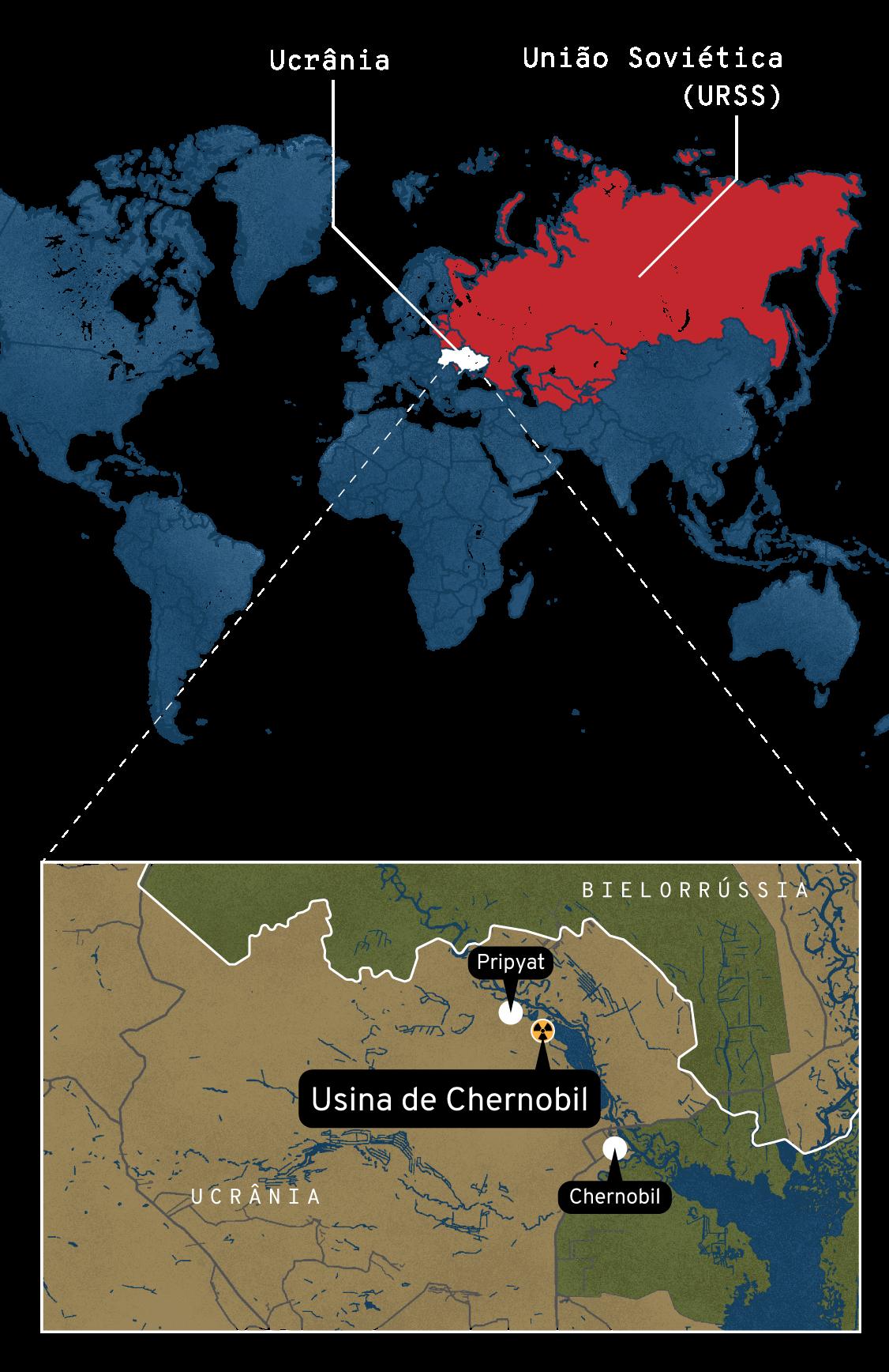 Mapa: Onde ficava a usina de Chernobil, na Ucrânia