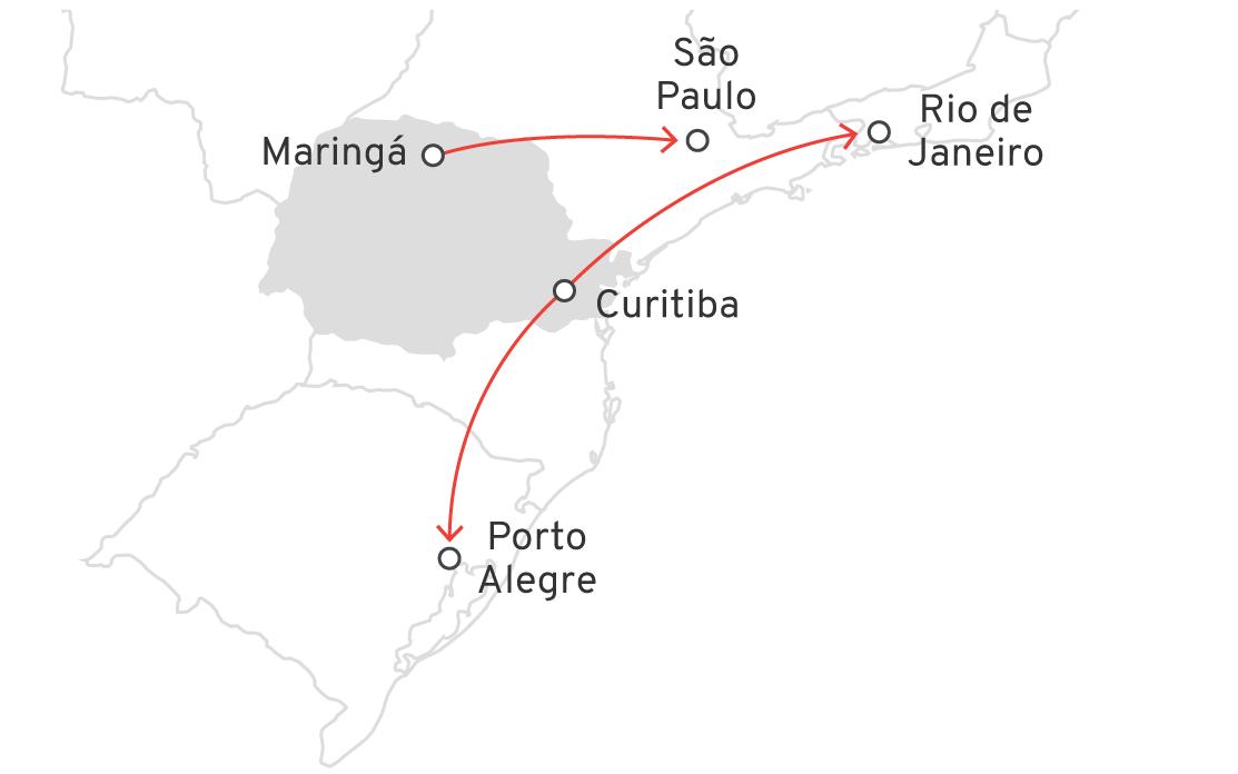 Infográfico: Mapa dos novos voos no paraná
