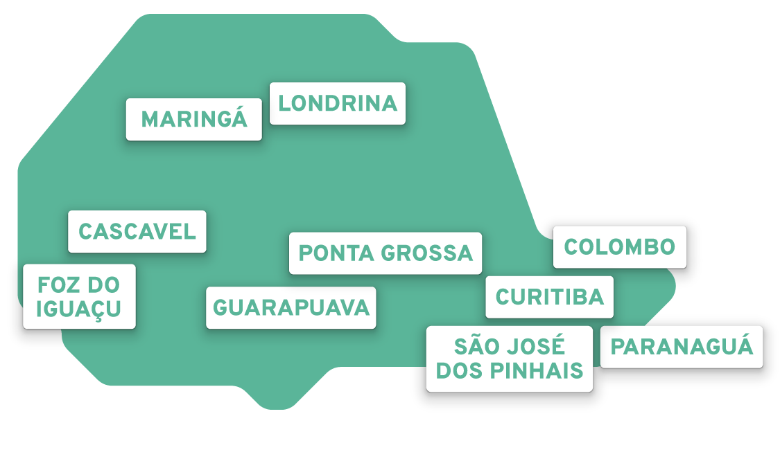 Mapa do Paraná Simplificado