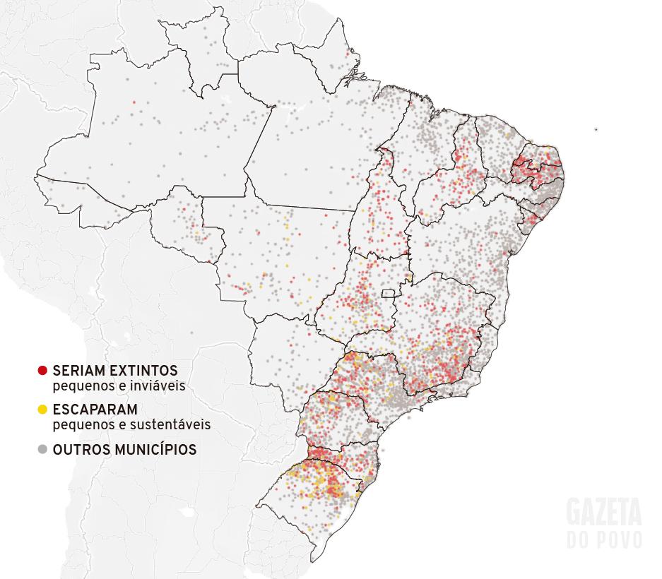 Infográfico: Municípios com até 5 mil habitantes