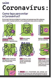 PDF para baixar e imprimir: como se prevenir e evitar a contaminação do Coronavírus (Covid-19)