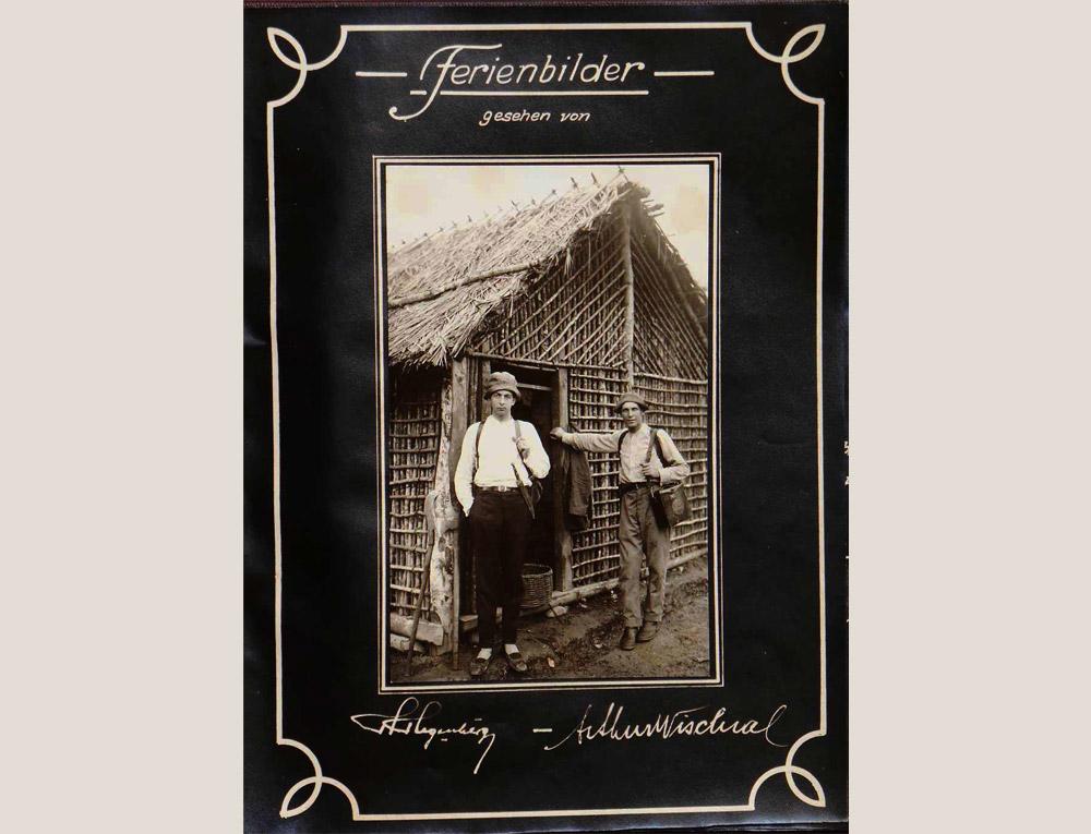 Hugo Hegenberg e Arthur Wischral. (Foto: Arthur Wischral/coleção Key Imaguire.)