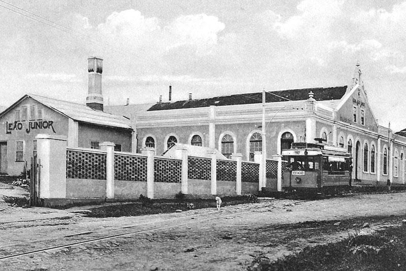 Engenho da Matte Leão onde hoje é o bairro Batel em Curitiba. (Foto: Instituto Histórico e Geográfico do Paraná)