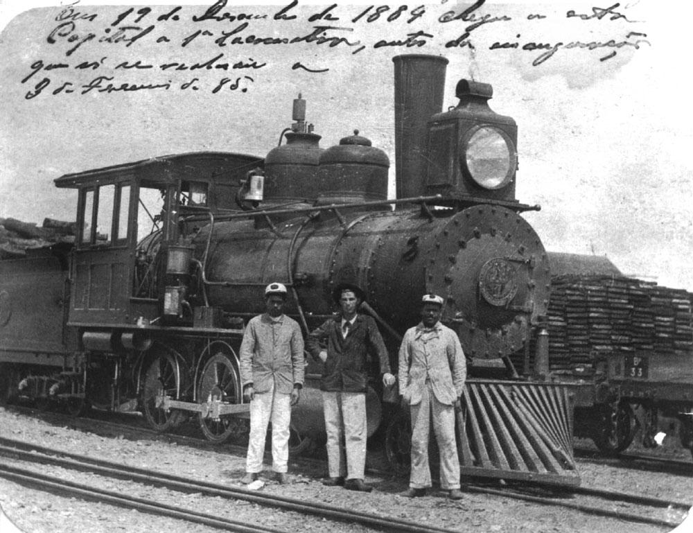 Locomotiva Baldwin que fez a primeira viagem de Paranaguá para Curitiba. (Foto: Instituto Histórico e Geográfico do Paraná)