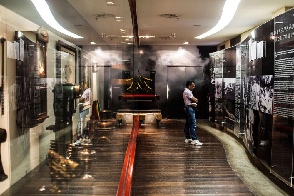 O museu conta a história da ferrovia Paranaguá-Curitiba e sua relação com o desenvolvimento econômico do Paraná. (Foto: Brunno Covello/GP)