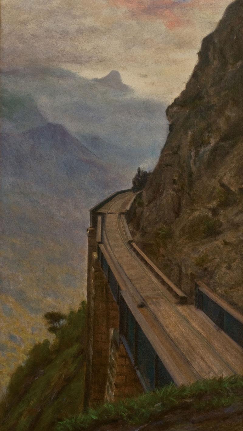 Alfredo Andersen, Viaduto do Carvalho, 1925, óleo sobre tela. (coleção particular)