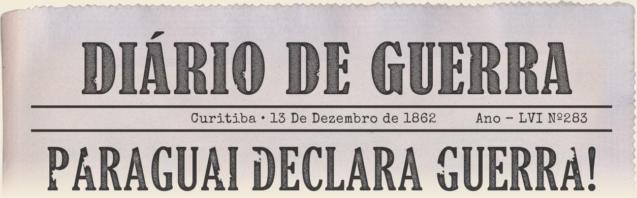 Imagem - Manchete do Jornal - Paraguai declara guera