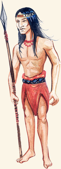 Ilustração - Indígena paranaense