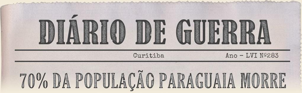 Imagem - Manchete do Jornal - 70% da população paraguaia morre
