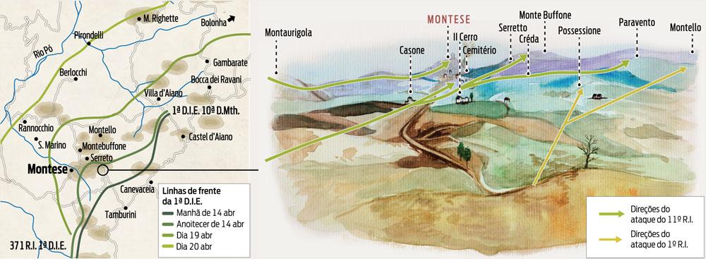 Mapa de Montese.